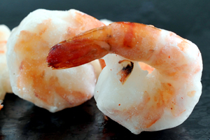 Black Tiger Cooked Peeled Deveined Tail On I.Q.F Shrimps